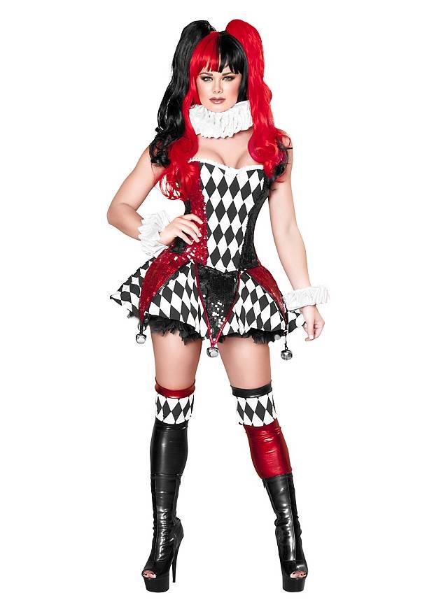 Miss Harlekin Sexy Kostüm