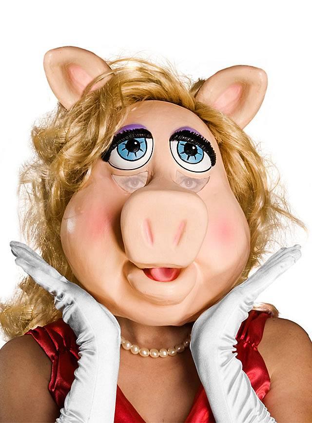 Miss Piggy Maske aus Latex