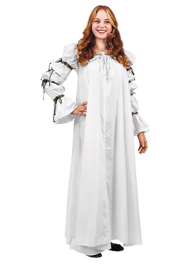 Mittelalter Unterkleid weiß