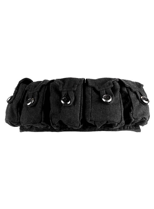 Mittelalterlicher Taschengürtel schwarz