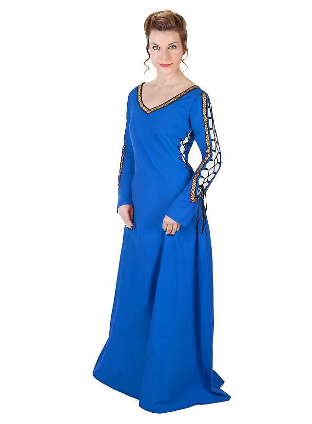 Mittelalterliches Schnürkleid blau - 33% Rabatt