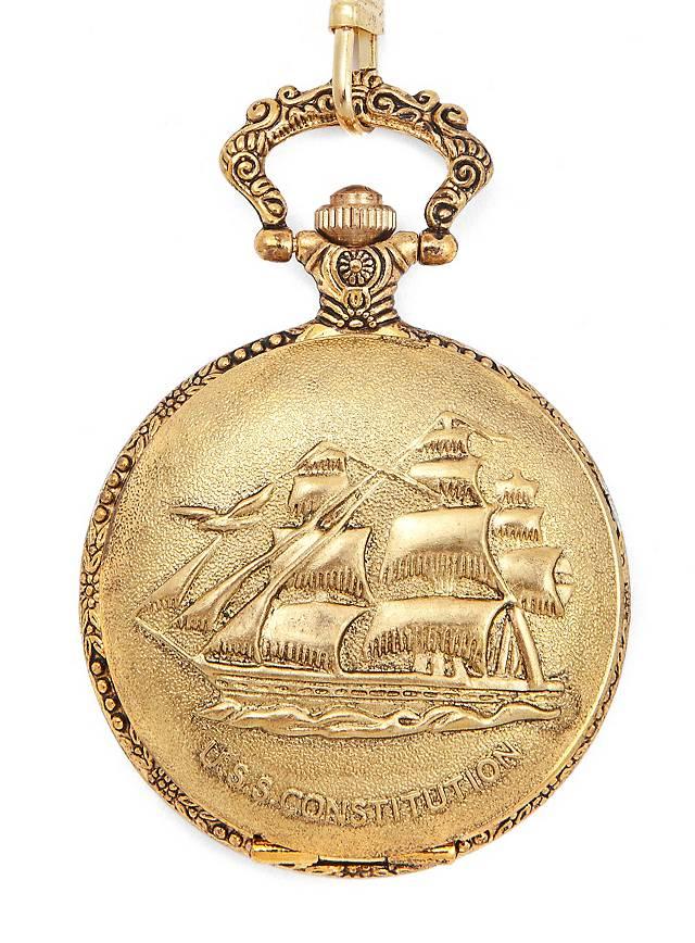 Montre de gousset marine dorée