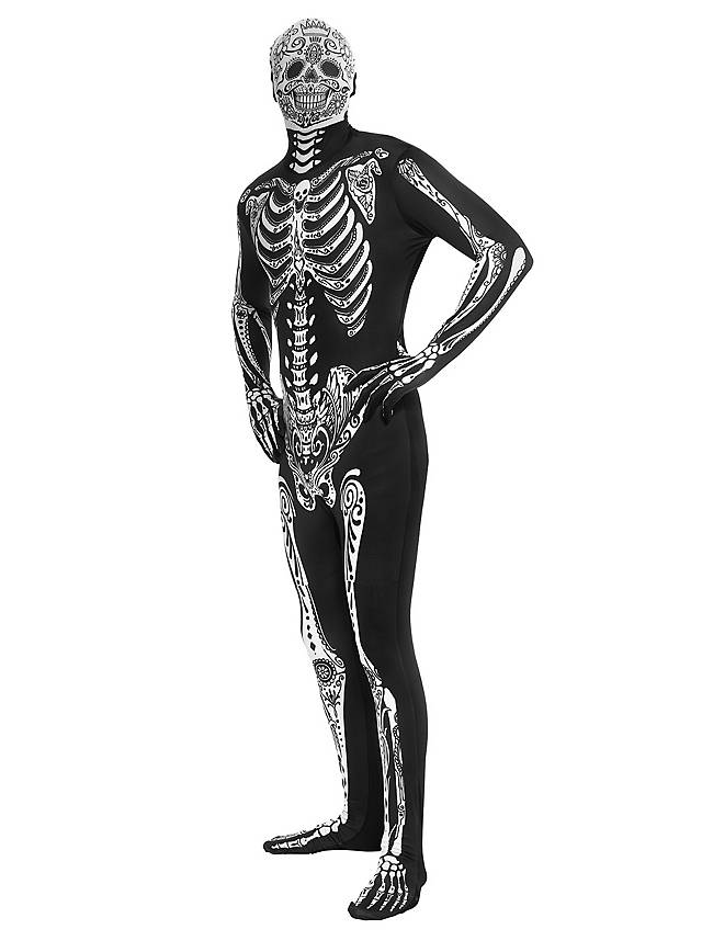 Morphsuit Day Of The Dead Ganzkörperkostüm