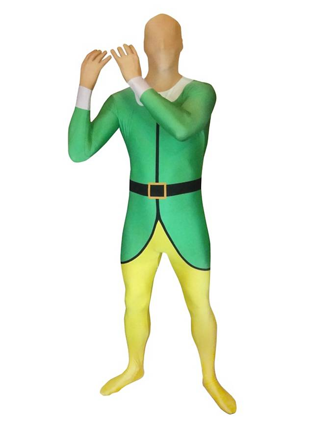 morphsuit elf full body costume