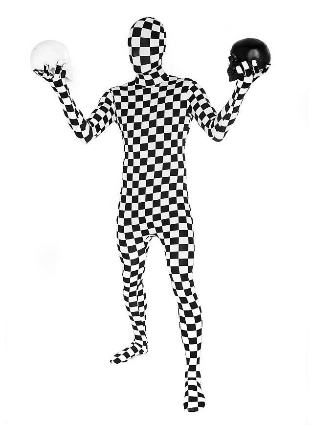 Morphsuit Schachbrett Ganzkörperkostüm