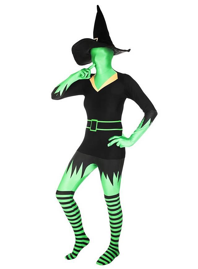 Morphsuit sorcière verte Déguisement intégral