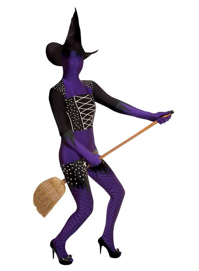 Morphsuit sorcière violet Déguisement intégral