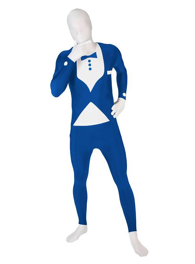 Morphsuit Tuxedo blau Ganzkörperkostüm