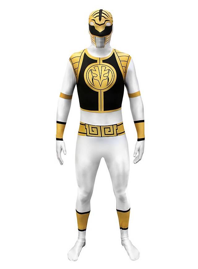 Morphsuit Weißer Power Ranger Ganzkörperkostüm