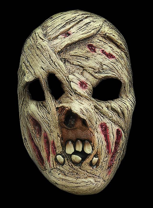 Mumie Maske des Grauens aus Latex