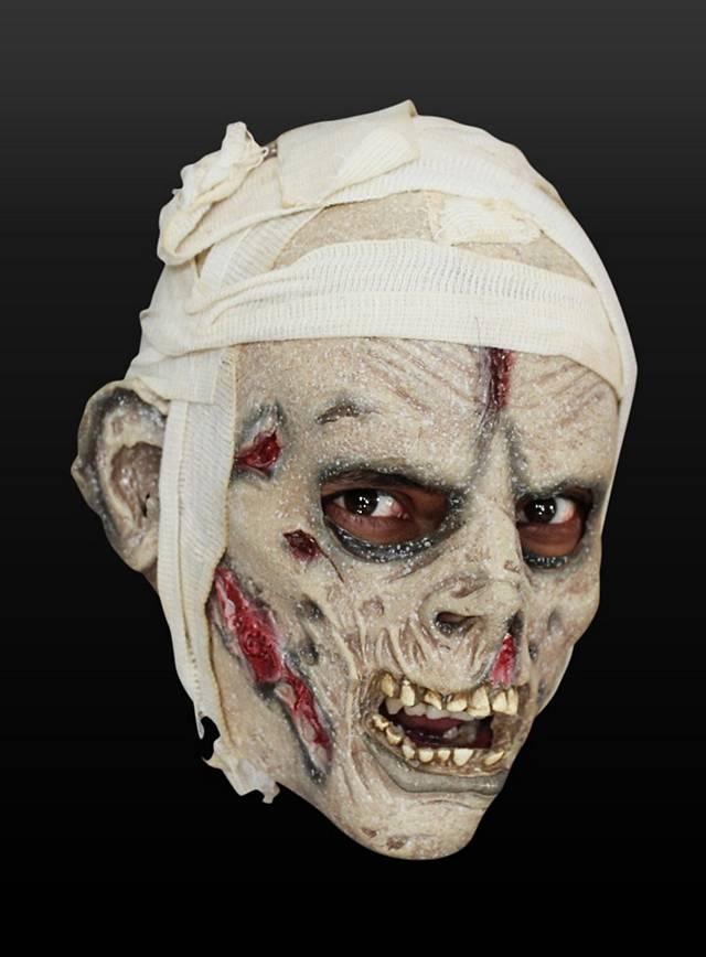 Mumie mit Kopfverband Kindermaske aus Latex