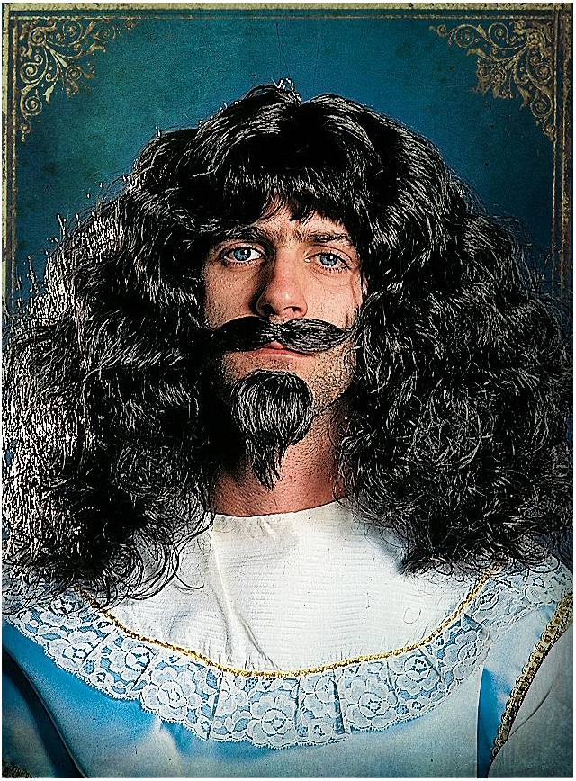 Musketeer beard set with wig