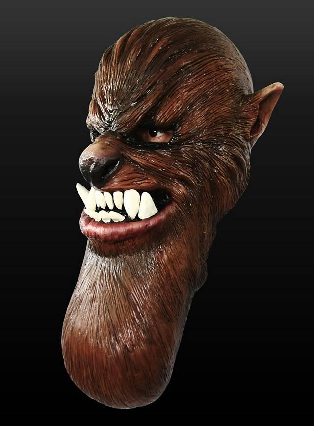 Mutanten Werwolf Maske aus Latex