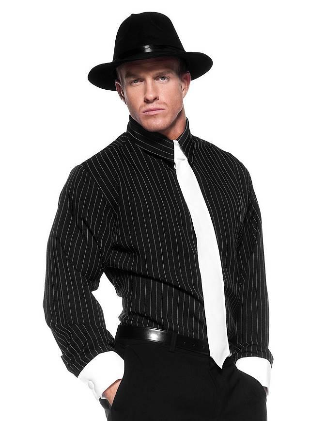Nadelstreifen Gangster Shirt