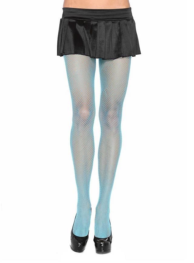 Netzstrumpfhose hellblau