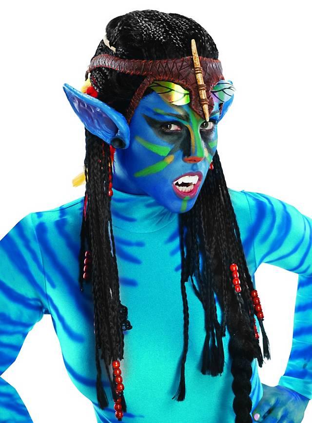 Neytiri Avatar Perücke mit Ohren