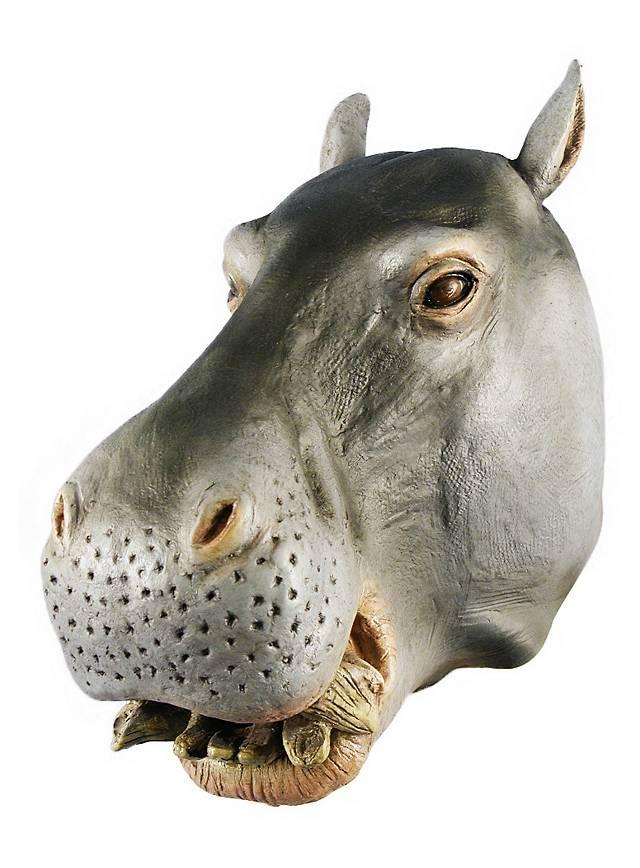 Nilpferd Maske aus Latex