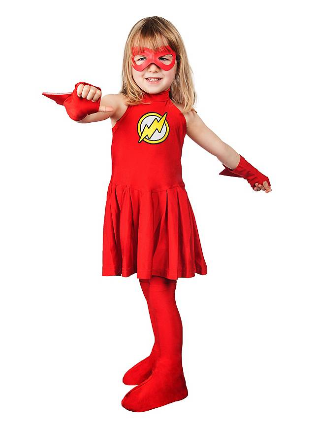 Original Flash Girl Costume for Girls - maskworld.com