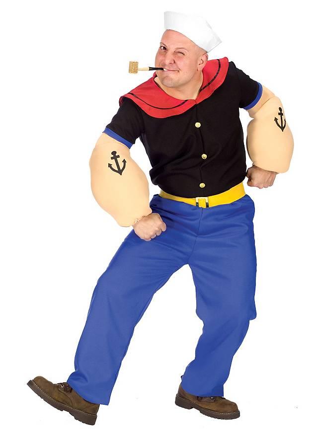 Original Popeye Kostüm für Dein Paarkostüm
