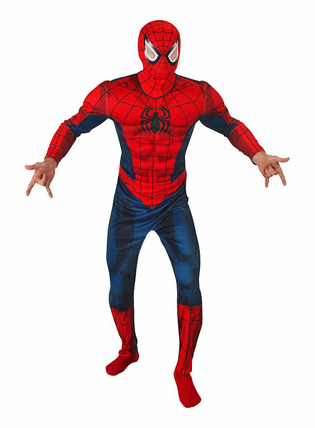 Adult Homecoming Spider Man Deluxe Muscle Men Costume ...
