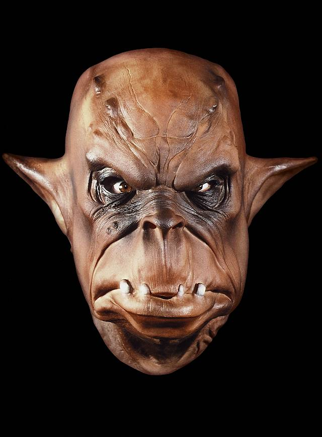 Ork braun Maske aus Schaumlatex