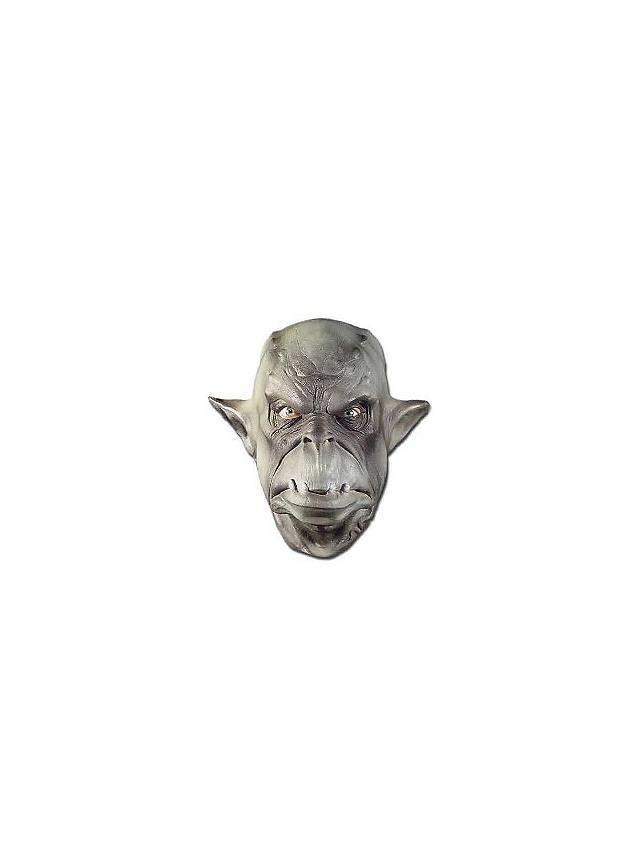 Ork grün Maske aus Schaumlatex