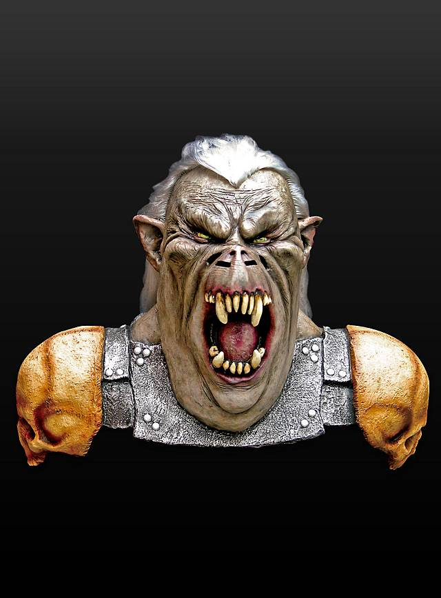 Orkkrieger Maske aus Latex