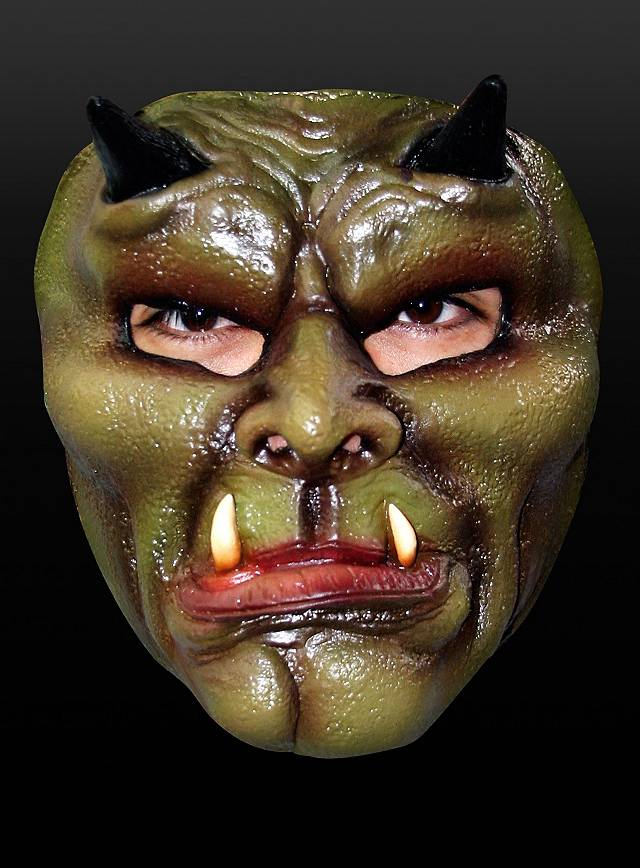 Orkmaske Maske aus Latex