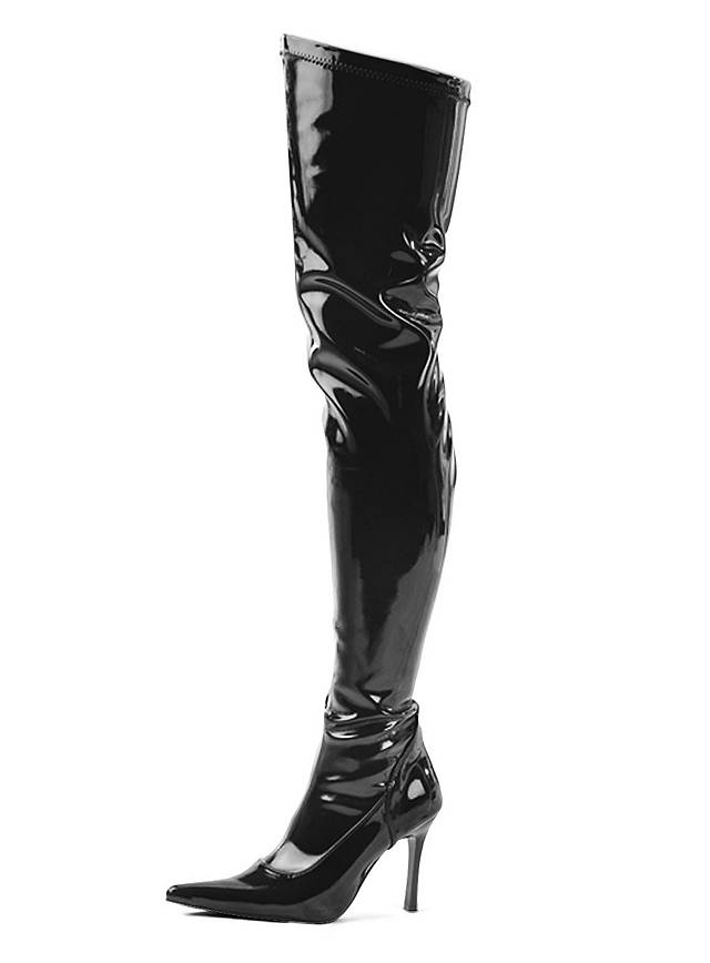Overknee Stiefel Wet Look