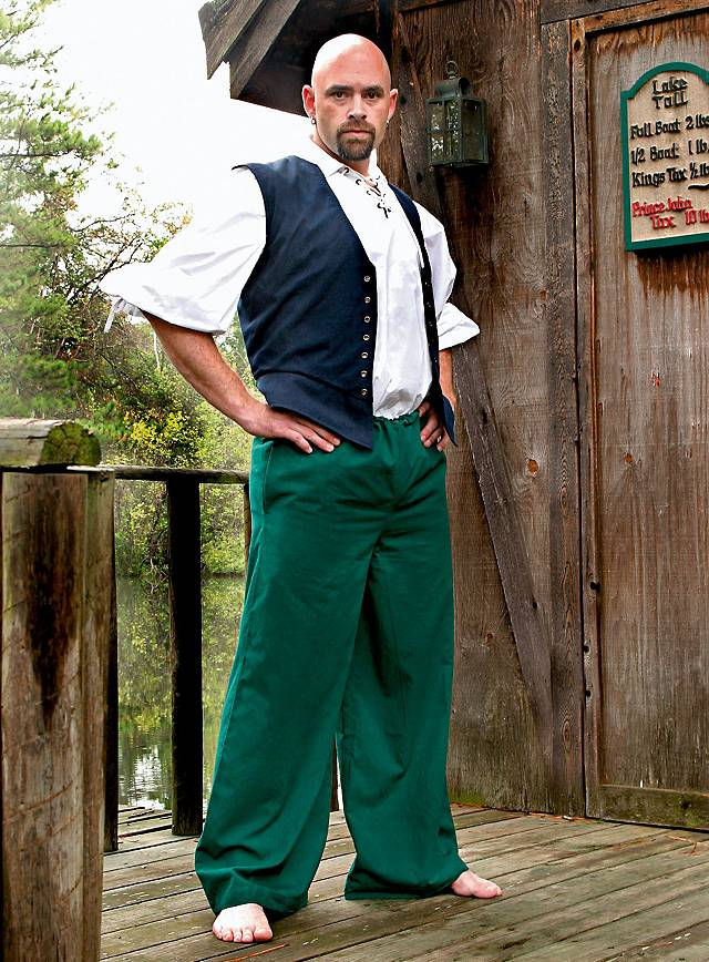 Pantalon de pirate vert
