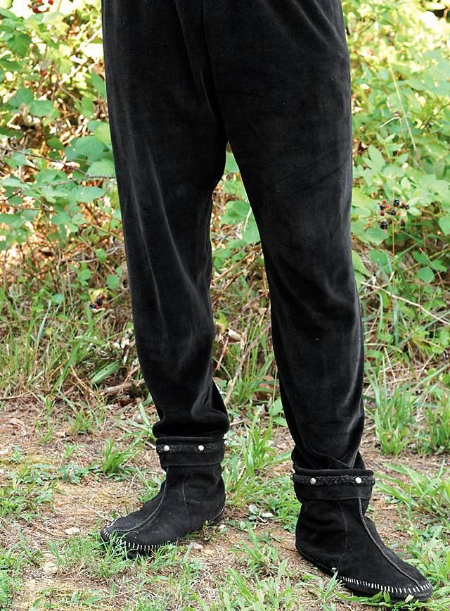 Pantalon de velours médiéval noir