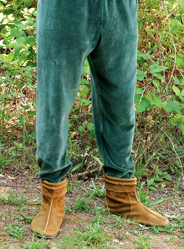 Pantalon de velours médiéval vert