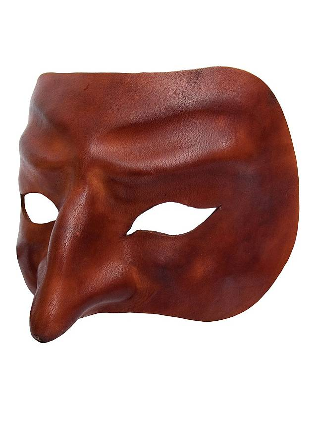 Plus adapté Pantalone de cuoio Commedia dell´Arte Leather Mask - maskworld.com LD-01