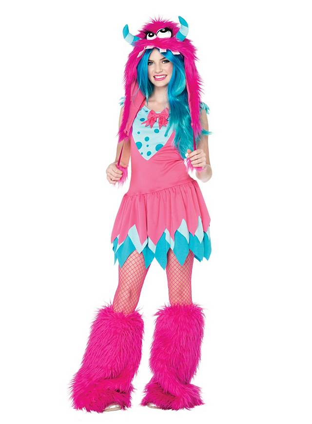 Party Monster pink & turquoise Teen Costume