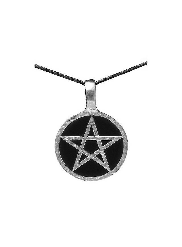 Pentagramm Kette schwarz