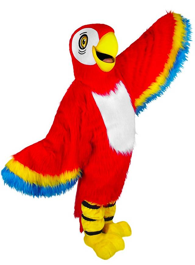 Perroquet rouge Mascotte