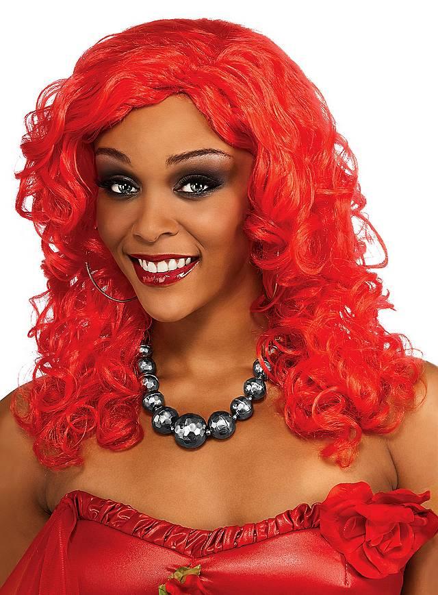 Perruque bouclée rouge Rihanna