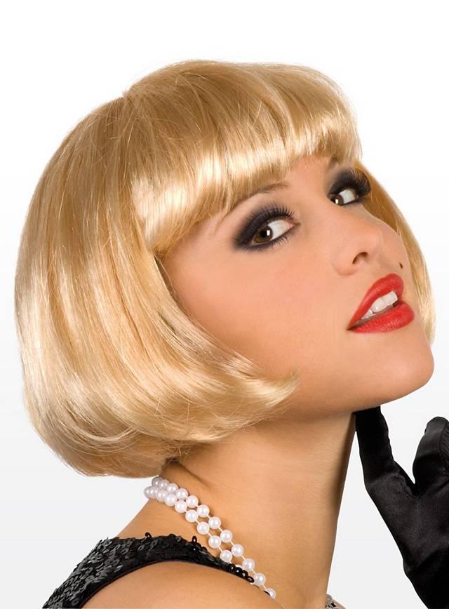 Perruque coupe au carré blonde