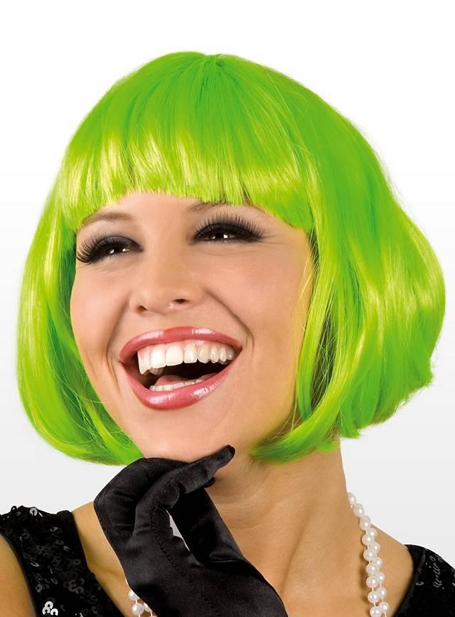 Perruque coupe au carré verte
