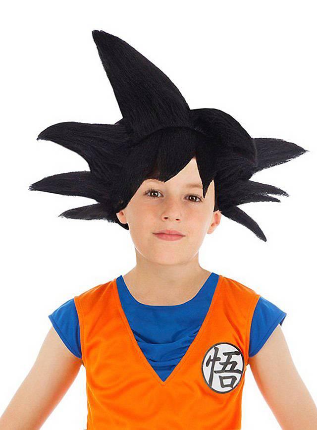Perruque de Sangoku Dragon Ball Z noire pour