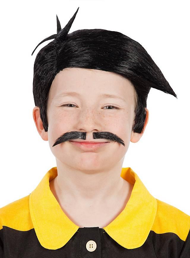 Perruque et moustache Les Dalton pour enfant