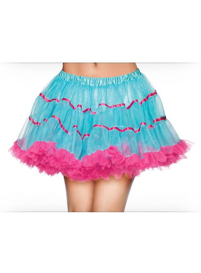 Petticoat kurz türkis-pink