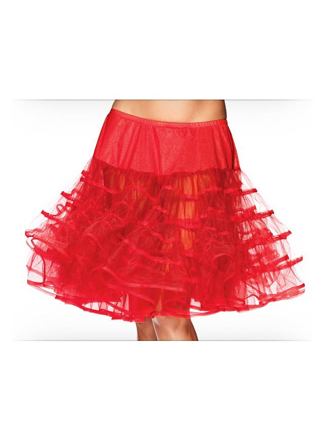 Petticoat red mid-length