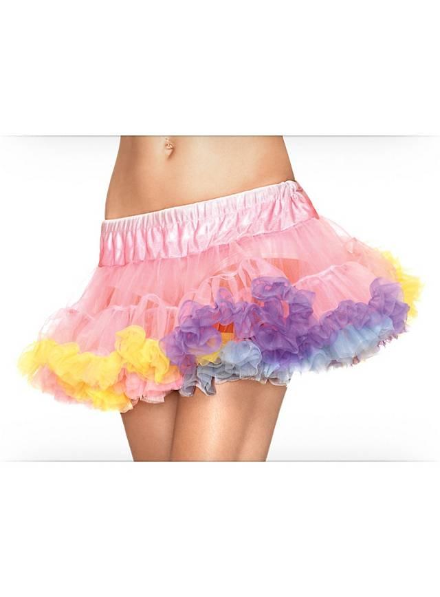 Petticoat regenbogenfarben mini