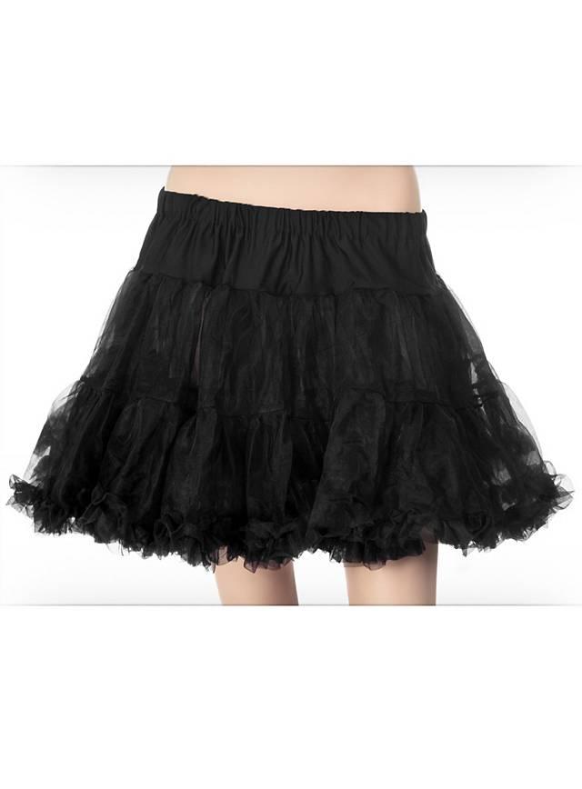 Petticoat schwarz groß kurz