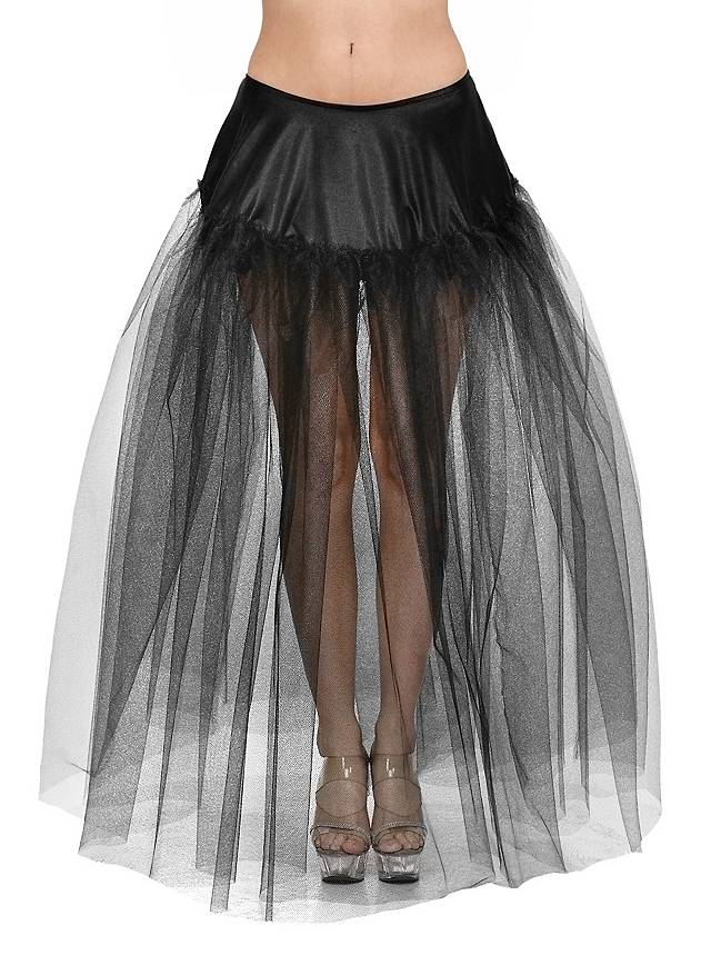Petticoat lang schwarz