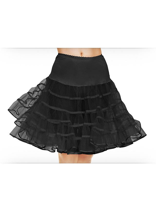Petticoat schwarz mittellang