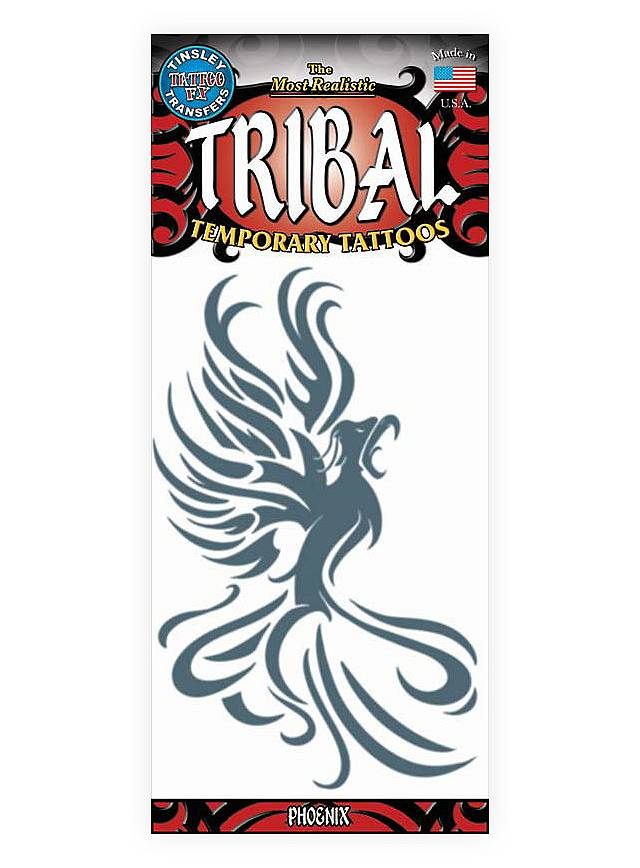 Phoenix Tribal Temporary Tattoo Maskworld Com