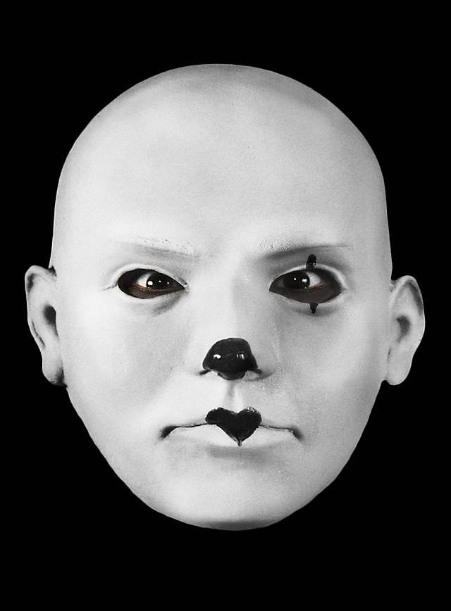 Pierrot Maske aus Schaumlatex