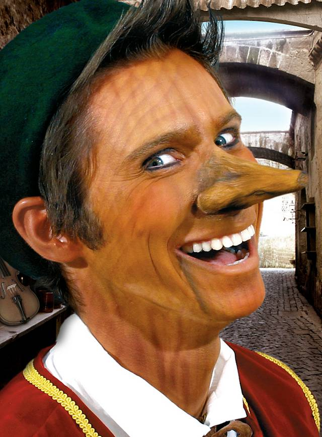 Pinocchio Theatrical Nose Made of Latex